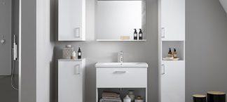 EVELIN OUE 65 II WH ormaric s keramickim umivaonikom  fioka (bela-visoki sjaj)