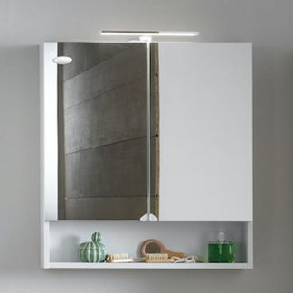 EVELIN TOE 65 WH toaletni ormaric sa ogledalom na vratima (bela-visoki sjaj)