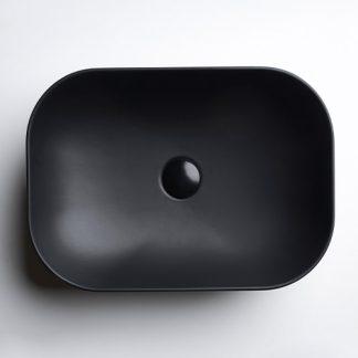 AXA DECUS LAVABO PRAVOUGAONI 60x35 cm CRNI 8530007