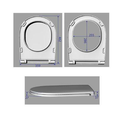 AXA DP WC DASKA SOFT CLOSE CRNA AF8407