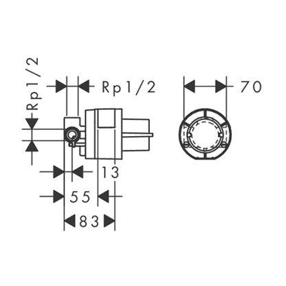 HANSGROHE MEŠAČ IBOX BASIC BEZ PREBACIVAČA 13620180