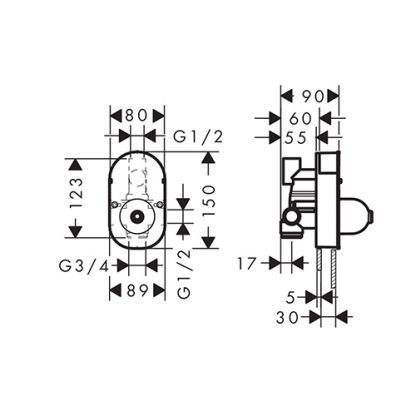 HANSGROHE MEŠAČ IBOX BASIC SA PREBACIVAČEM 31741180